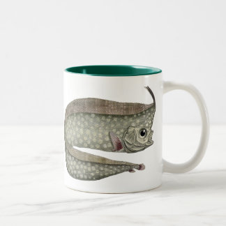 Vintage Marine Aquatic Life, Crested Oarfish, Fish Two-Tone Coffee Mug