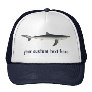Vintage Marine Aquatic Ocean Life, Blue Shark Trucker Hat