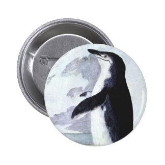 Vintage Marine Bird, Chinstrap Penguin Antarctica 2 Inch Round Button