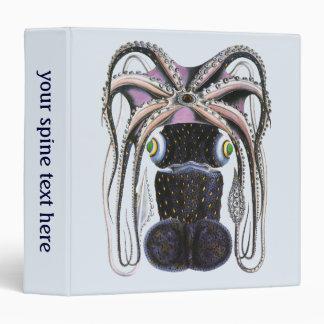 Vintage Marine Life Animal, Giant Octopus or Squid Vinyl Binder