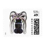 Vintage Marine Life Animal, Giant Octopus or Squid Postage Stamps