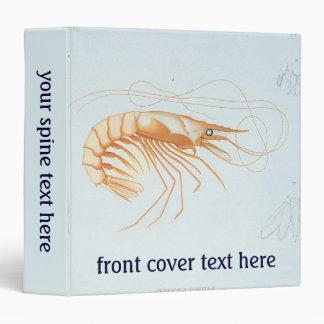 Vintage Marine Life Ocean Animal Shrimp Anatomy Binder