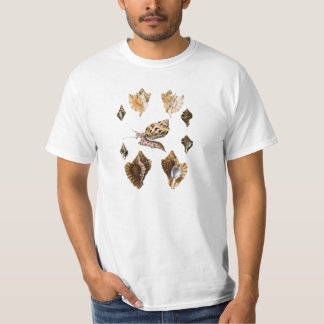 Vintage Marine Life Organisms, Snails and Mollusks T-Shirt