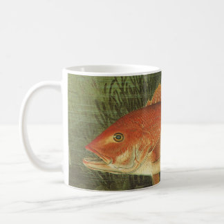 Vintage Marine Life, Red Snapper Fish in the Ocean Classic White Coffee Mug