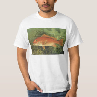 Vintage Marine Life, Red Snapper Fish in the Ocean T-Shirt