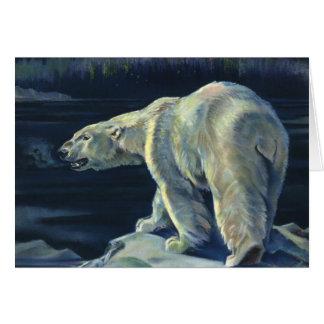 Vintage Marine Mammal, Polar Bear, Iceberg Arctic Card