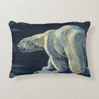 Vintage Marine Mammal, Polar Bear, Iceberg Arctic Decorative Pillow
