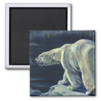 Vintage Marine Mammal, Polar Bear, Iceberg Arctic Refrigerator Magnets