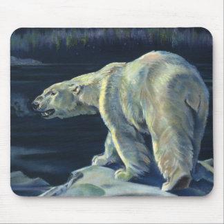 Vintage Marine Mammal, Polar Bear, Iceberg Arctic Mouse Pad