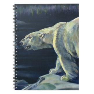 Vintage Marine Mammal, Polar Bear, Iceberg Arctic Spiral Note Books