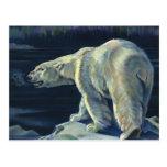 Vintage Marine Mammal, Polar Bear, Iceberg Arctic Post Card