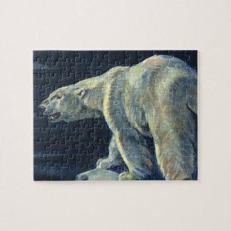 Vintage Marine Mammal, Polar Bear, Iceberg Arctic Puzzle