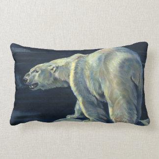 Vintage Marine Mammal, Polar Bear, Iceberg Arctic Throw Pillow