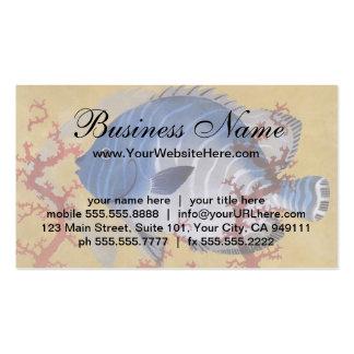 Vintage Marine Ocean Life Tropical Blue Fish Coral Business Card