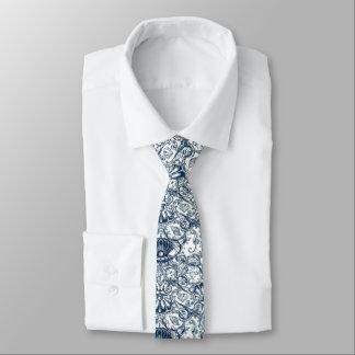 Vintage Marine Pattern Tie