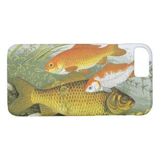 Vintage Marine Sea Life Fish, Aquatic Goldfish Koi iPhone 8/7 Case