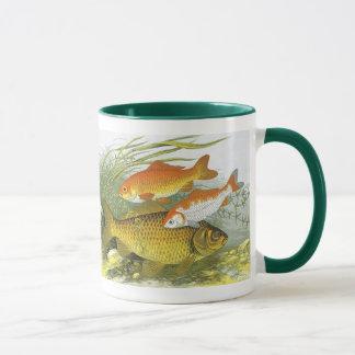 Vintage Marine Sea Life Fish, Aquatic Goldfish Koi Mug