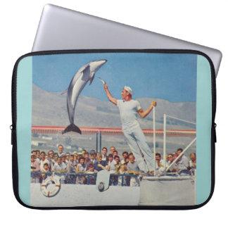 Vintage Marineland dolphin computer sleeve 15'