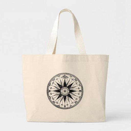Vintage Mariner's Compass jumbo tote bag