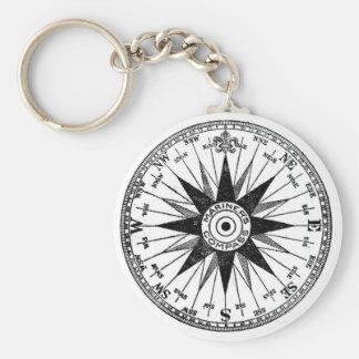 Vintage Mariner's Compass keychain
