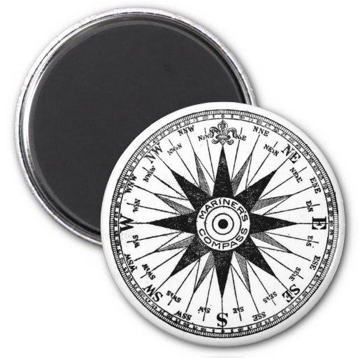 Vintage Mariner's Compass magnet