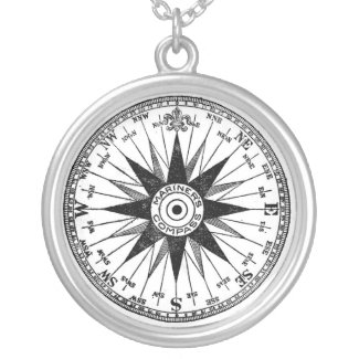Vintage Mariner's Compass necklace necklace
