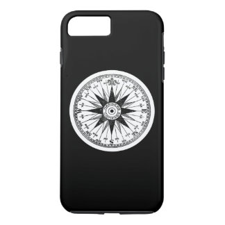 Vintage Mariners Compass Rose on Black Pick Color iPhone 7 Plus Case