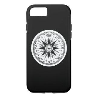 Vintage Mariner's Compass Rose on Black Pick Color iPhone 8/7 Case