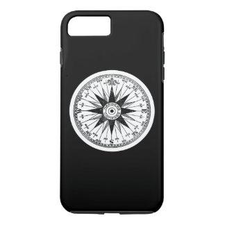 Vintage Mariners Compass Rose on Black Pick Color iPhone 8 Plus/7 Plus Case