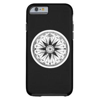 Vintage Mariner's Compass Rose on Black Pick Color Tough iPhone 6 Case