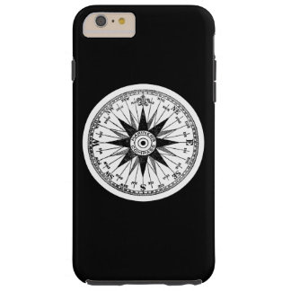 Vintage Mariners Compass Rose on Black Pick Color Tough iPhone 6 Plus Case