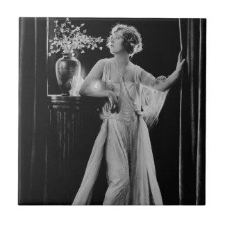 Vintage Marion Davies Azulejo Cuadrado Pequeño