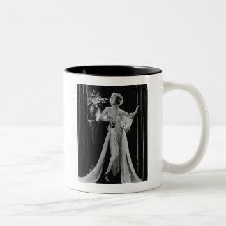 Vintage Marion Davies Two-Tone Coffee Mug