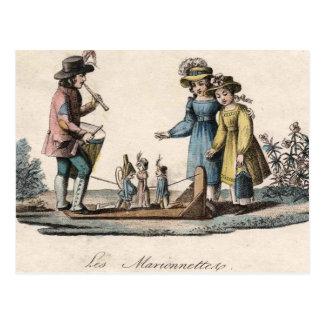 Vintage Marionette Puppet Show Postcard