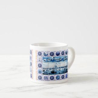 Vintage Maritime Holland Delftware Style 6 Oz Ceramic Espresso Cup