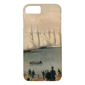Vintage Maritime, New York Yacht Club Regatta iPhone 8/7 Case
