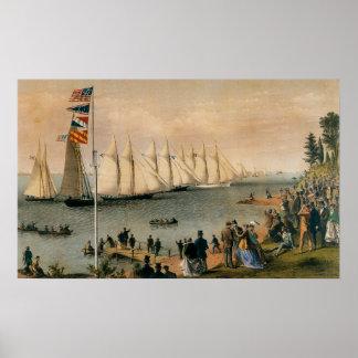 Vintage Maritime, New York Yacht Club Regatta Poster