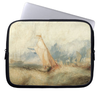 Vintage Maritime Ship Seascape by Joseph Turner Computer Sleeve