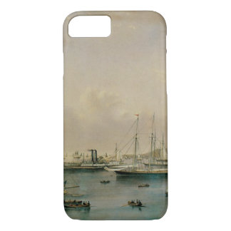 Vintage Maritime, Yacht Squadron at Newport Harbor iPhone 8/7 Case