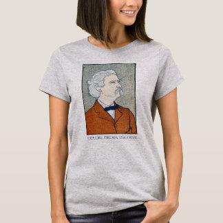 Vintage Mark Twain - Explore. Dream. Discover. T-Shirt