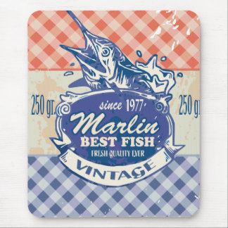Vintage Marlin Best Fish Mouse Pad