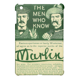 Vintage Marlin Firearm Gun Ad Green iPad Mini Case