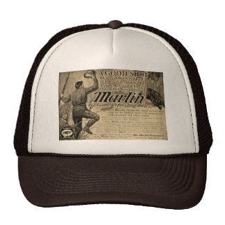 Vintage Marlin Firearms Good Shot Ad Trucker Hat