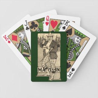 Vintage Marlin Firearms Gun Ad Deck Playing Cards