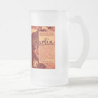 Vintage Marlin Firearms Orange Ad Beer Stein Mug