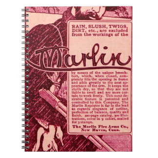 Vintage Marlin Firearms Pink Ad Journal Notebook