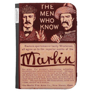 Vintage Marlin Firearms Red Ad Amazon Kindle Case