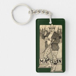 Vintage Marlin Firearms Shotgun Ad Auto Key Chain