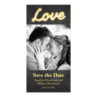 Vintage Marquee Lights Save the Date Photo Card