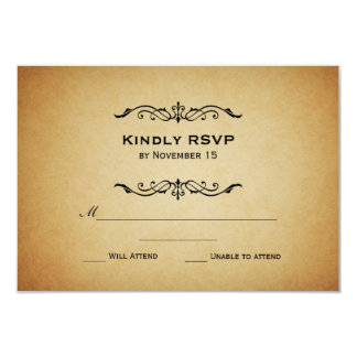 Vintage Marquis Wedding RSVP Card